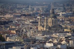 Panorámica desde la ciudadela en Budapest