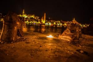 Monumentos zapatos en Budapest